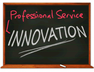 Professional Service innovation blackboard