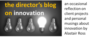 the director's blog on innovation - logo with text